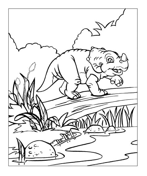 the gallery for gt land before time coloring pages