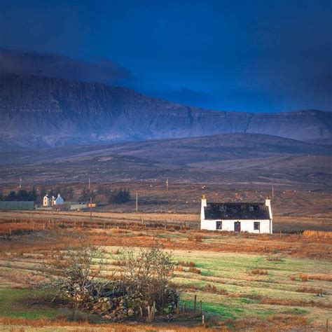 highland cottage landscape oversized print scottish highland