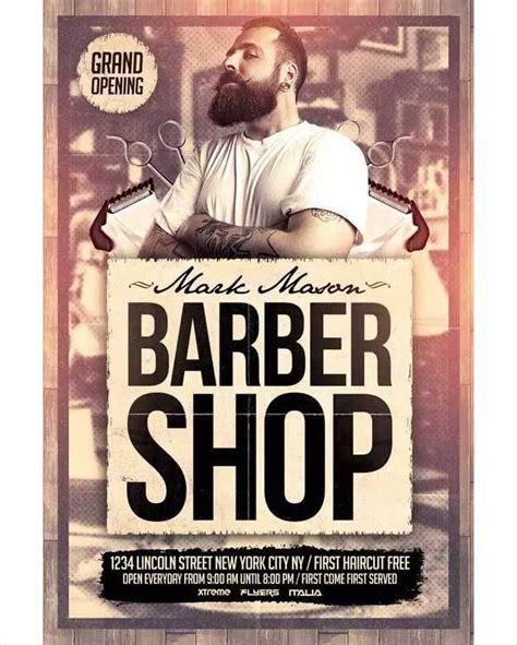 barber shop template 27 barbershop flyer templates free premium