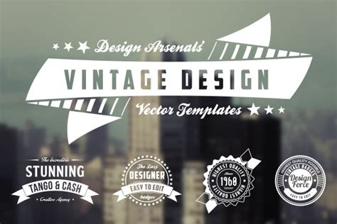 retro logo badge templates logo templates on creative