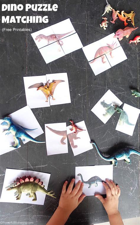 printable matching puzzle games dinosaur matching puzzle free printable
