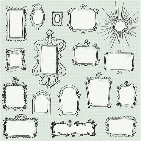 how to create doodle frames clip doodle frames pack set of 17 unique