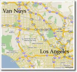 nuys california map map california nuys