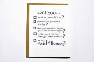 Will You Be My Bridesmaid Poem Will You Be My Maid Of Honor Funny Wedding Card