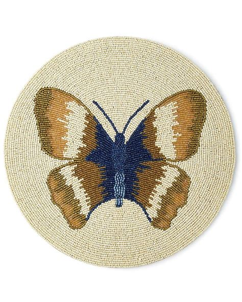 blue beaded placemats butterfly beaded placemat blue gold designs usa