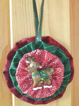 yo yo fabric ornaments and ornaments on pinterest