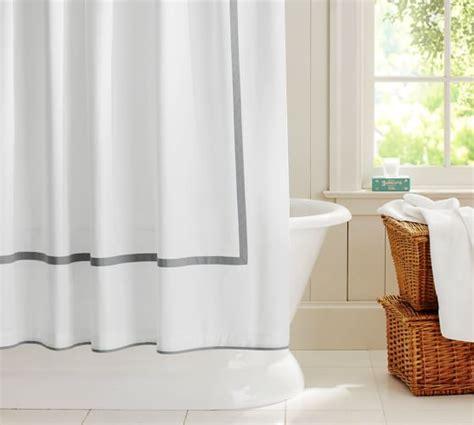 organic shower curtain pottery barn