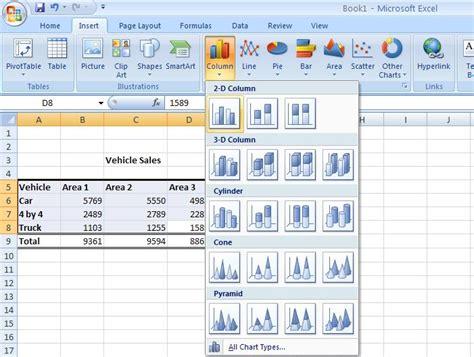 excel tutorial uk excel tutorial creating charts