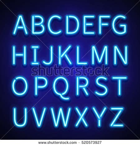 neon light letters font pink neon light alphabet cable vector stock vector