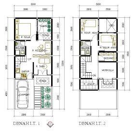 desain kamar mandi 1 5x1 5 meter denah rumah minimalis 5x9 5 meter 2 lantai dapur