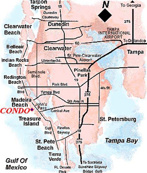 map of johns pass florida madeira condo rentals florida clearwater st