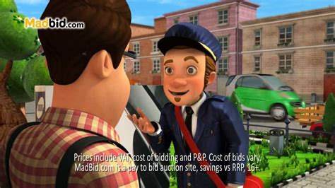 made bid madbid s postman tv advert 2013