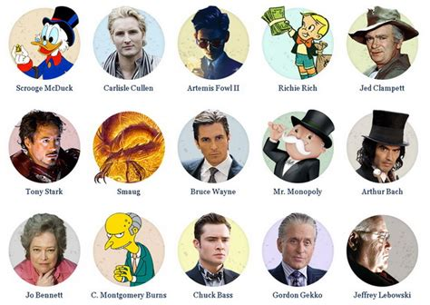 10 Fictional Characters To Follow On by Hash Forbes Top 10 Richest Fictional Characters