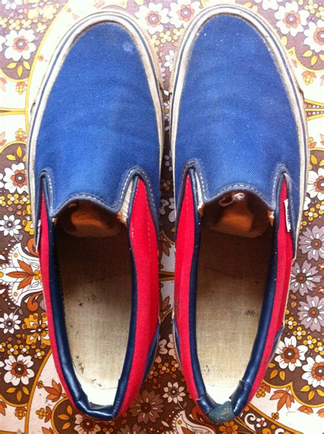 Vans Slip On Original Made In theothersideofthepillow vintage vans blue blue dogtown slip on style 98 made in usa 1980 s
