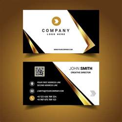 luxury business card design vector free