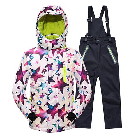 Sporty Set 5 minus 25 degrees children outerwear warm coat sporty ski suit clothes set waterproof