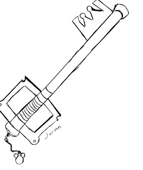 keyblade coloring pages keyblade kingdom key by squirtle on deviantart