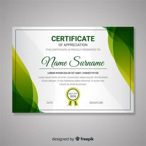 certificate template  abstract modern shapes svg