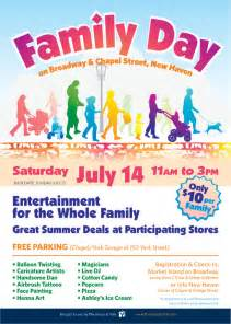 church family day flyer template