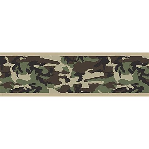 Wall Sticker Border Wall Border Motif List Dinding Kode 82 84 sweet jojo designs camo wallpaper border in green bed bath beyond