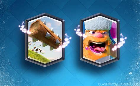 Clash Royale Legendary new legendary cards lumberjack and the log clash royale