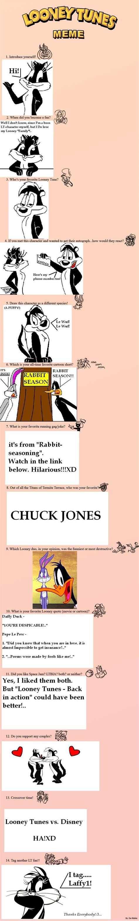 Looney Tunes Meme - my looney tunes meme by mizzamy15 on deviantart