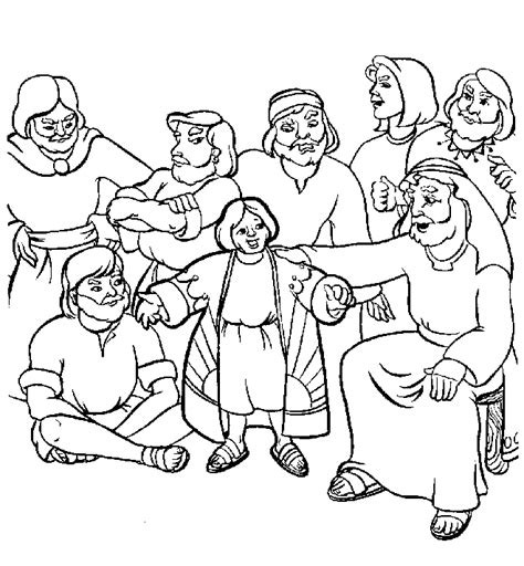 joseph coloring pages joseph