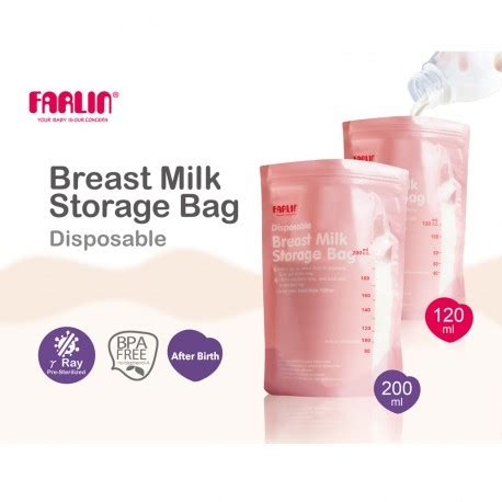 Sale Gabag Breastmilk Storage Bag Boy 100ml Farlin Disposable Breast Milk Storage Bag 200ml Feeding