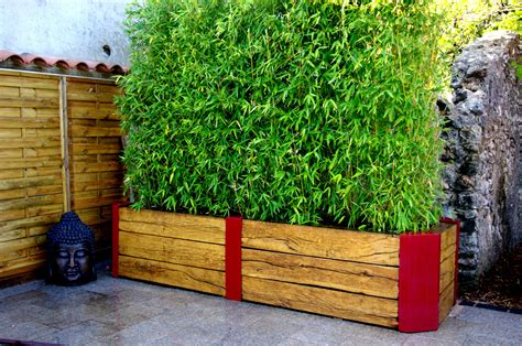 Bac Bambou Terrasse by Bac Bois Et M 233 Tal Terrasse Balcon Bambou Bac En Bois Et