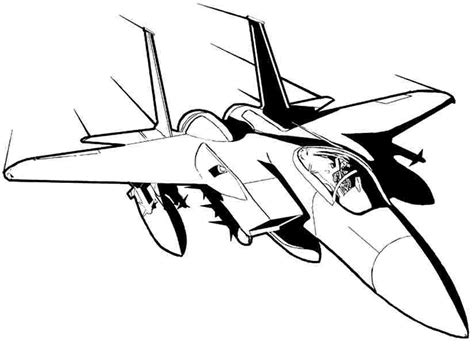 fighter plane coloring page airplane coloring pages jet airplane coloringstar