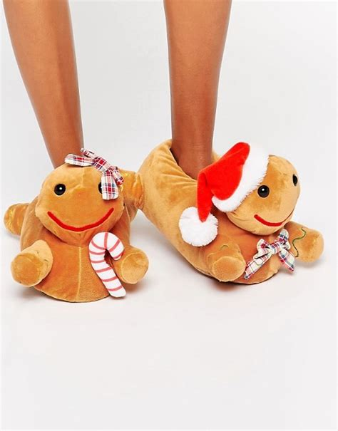 christmas house shoes asos asos newlybreads christmas gingerbread slippers