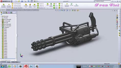 solidworks tutorial gun solidworks tutorial gatling gun mg youtube