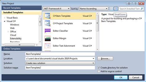Extending Visual Studio Part 3 Item Templates Codeproject Visual Studio Templates