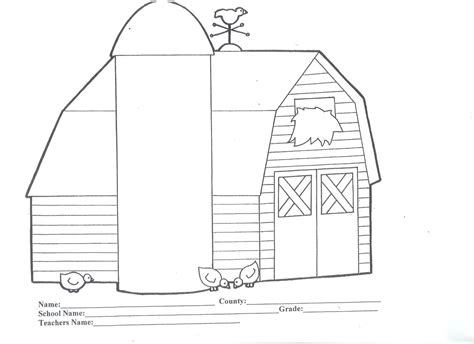 barn coloring pages to print coloring home