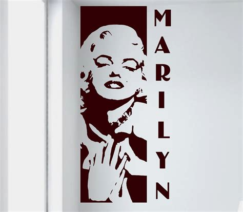 marilyn wall sticker marilyn wall decal removable sticker