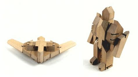 pattern beatbox robot woobots transformable wooden robots that are sure to