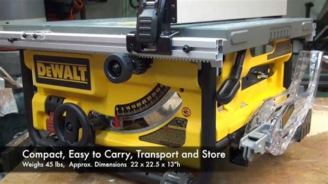 Dewalt Dwe780 Compact Tablesaw Youtube
