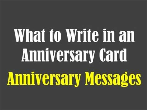 What To Write In An Anniversary Card To Your Husband