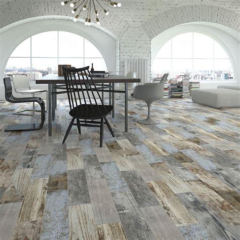 rustic wood floor l reclaimed rustic blue wood effect porcelain wall floor