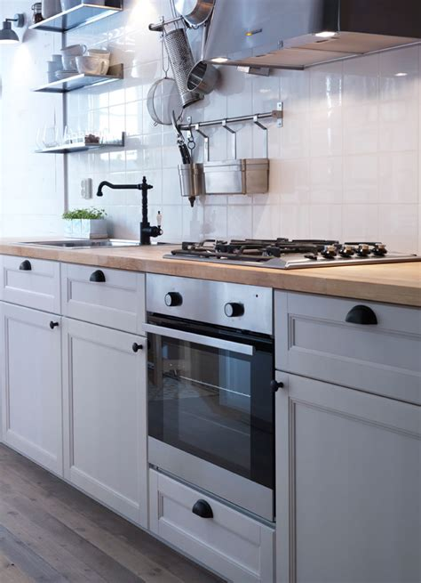 ikea savedal kitchen traditional white ikea kitchen with wood worktops black tradtional tap and vintage style door