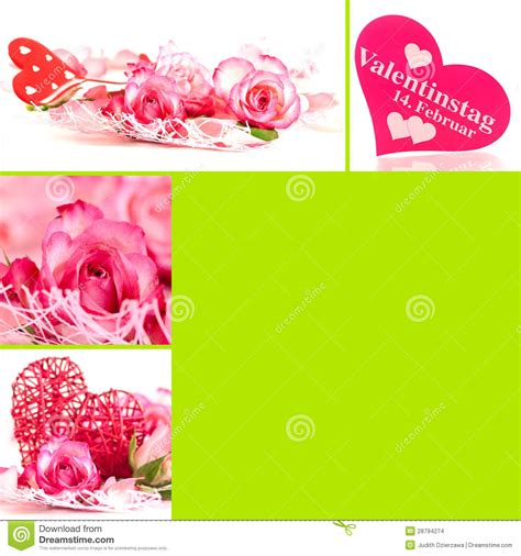 valentines day collage valentines collage stock images image 28794274