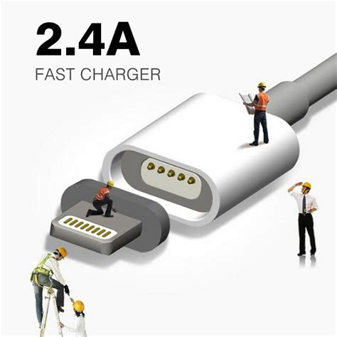 Kabel Usb Magnetic Iphone Micro 2 4a magnetic kabel micro usb kabel f 252 r iphone 6 6s 7 plus 5s 5 android samsung handy daten lade