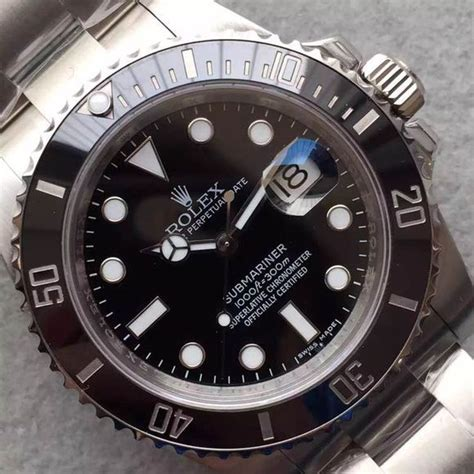 Jam Rolex Submariner 116610 Ln Green V7s Best Clone noob factory published replica rolex black submariner 116610 ln v6s with 3135 spot
