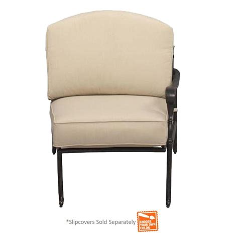 Patio Chair Inserts Hton Bay Edington Bronze Right Arm Patio Sectional Chair With Cushion Insert Slipcovers Sold