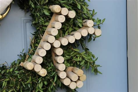 wine cork monogrammed boxwood wreath hometalk
