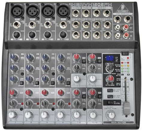 Mixer Audio Behringer 1202 behringer xenyx 1202fx 4 mono 2 input mixer with fx