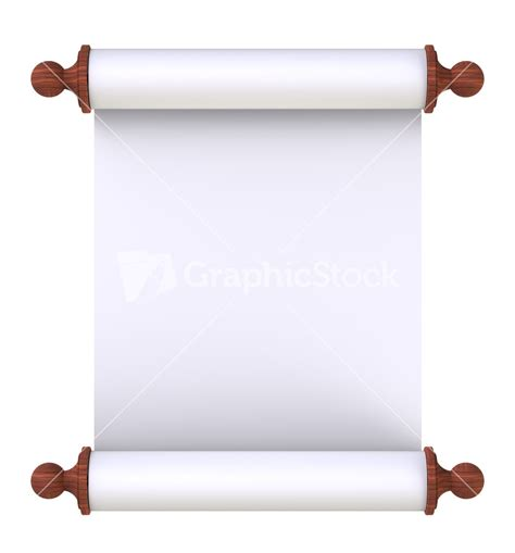 How To Make Scroll Paper - scroll paper with wooden handles white stock image
