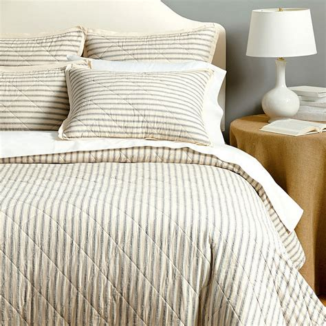 striped coverlet ticking stripe quilted bedding ballard designs
