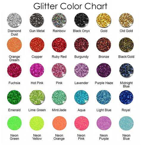 glitter color charts pictures to pin on tattooskid