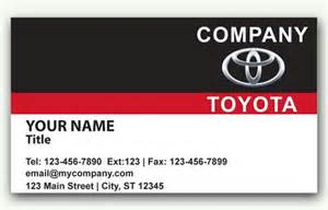 Toyota Card Auto Sales Business Card With Toyota Logo